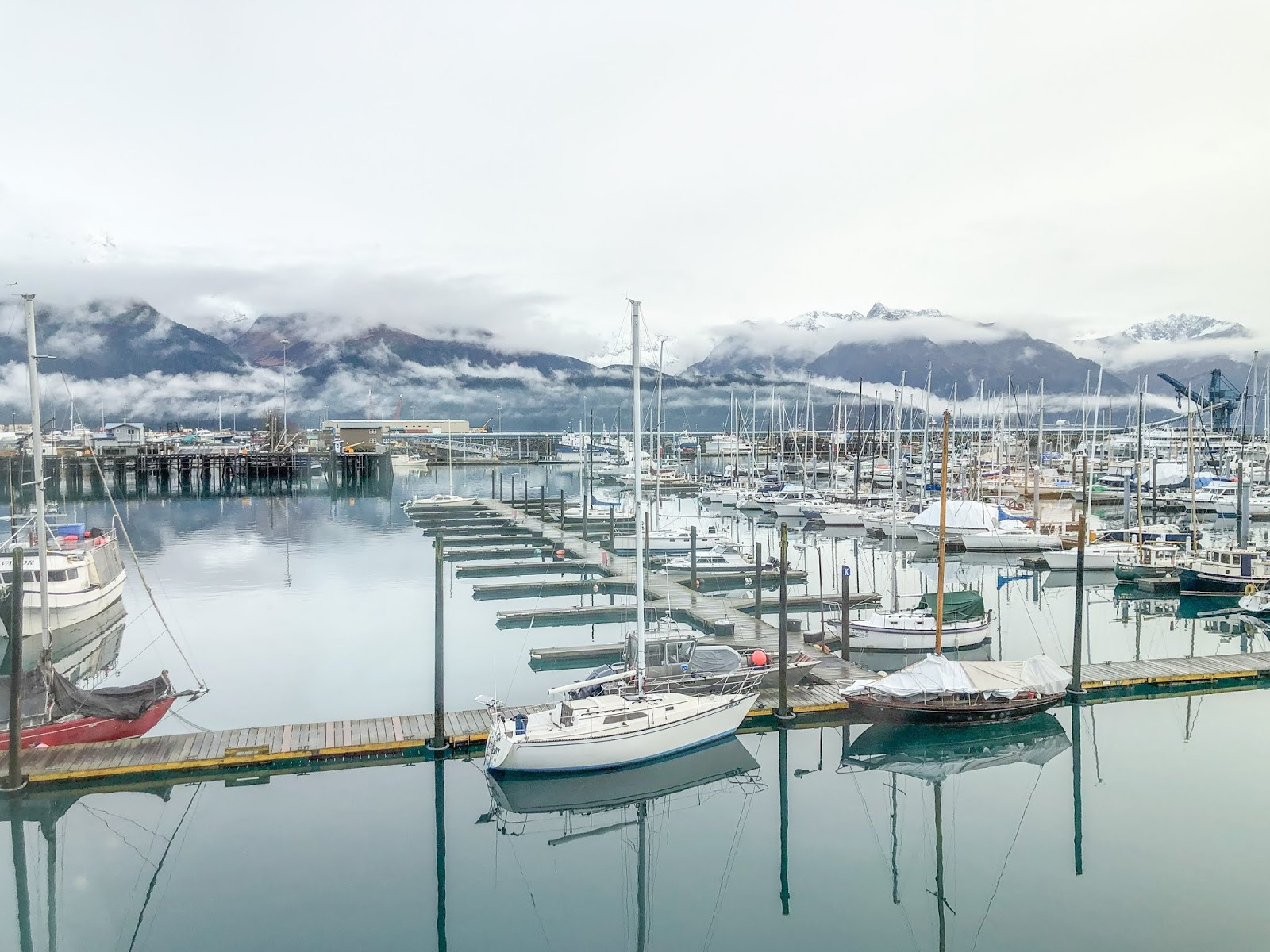 boats in Seward Harbor, Seward Alaska
