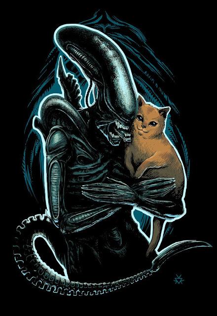 Jonesy y Alien, una pareja muy guapa