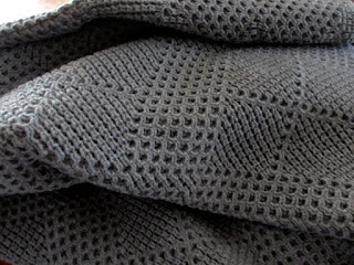 tg knits grey blanket