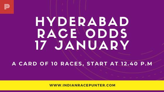 Hyderabad Race Odds 17 February, Race Odds,