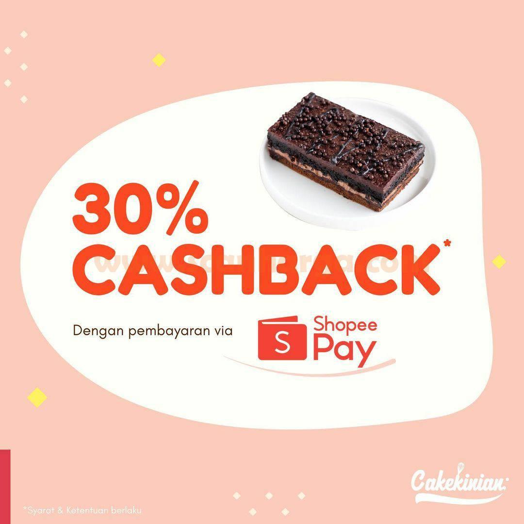 Cakekinian Promo Cashback 30% bayar pakai SHopeePay
