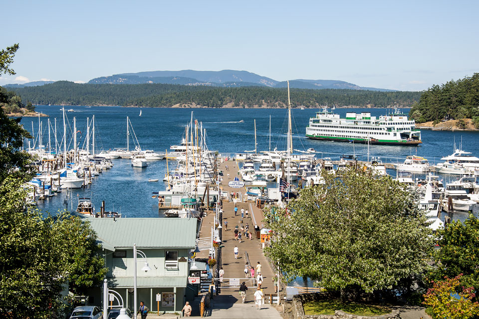 The Port of Friday Harbor Marina.