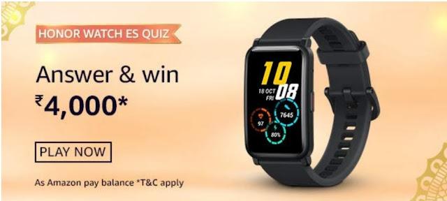 Amazon Honor Watch ES Quiz Answers
