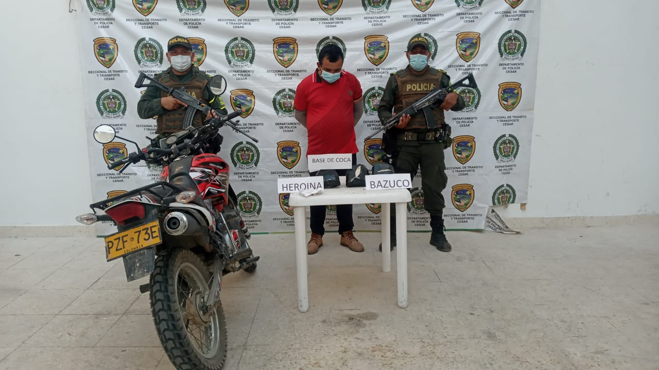 hoyennoticia.com, Le encontraron base de coca, heroína y bazuco
