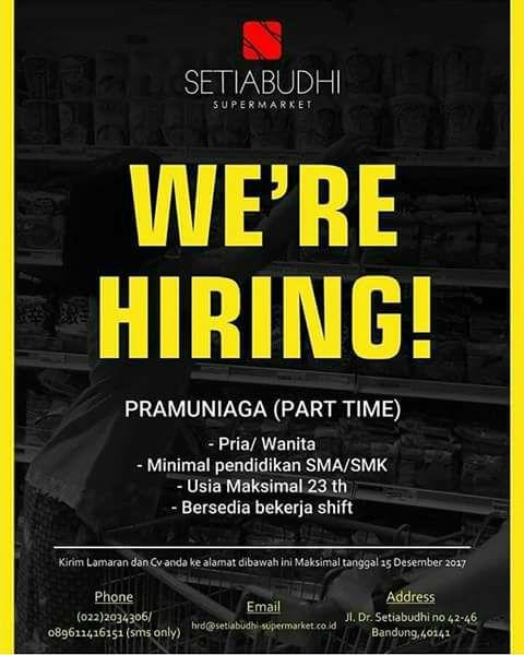 Lowongan Kerja Part Time Bandung