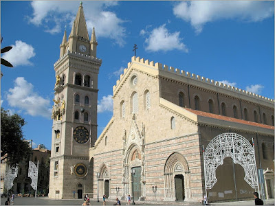 Messina Cathedral, Sicily, where Michelangelo Falvetti was director of music
