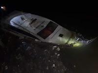 Belum Dimanfaatkan, Kapal Ambulance Laut Pangkep Senilai 1,8 M Tenggelam di Sungai