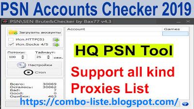 PSN Account Checker by Bax77 2019