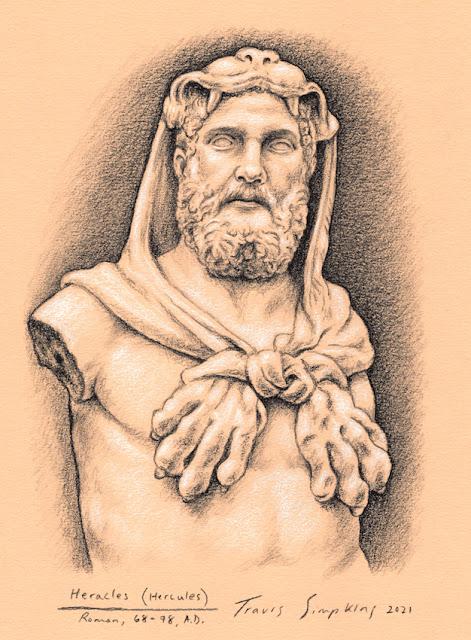 Heracles. Hercules. Hero. Twelve Labors. Ancient Greek Mythology. by Travis Simpkins