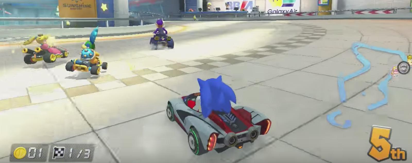 Implementan a Sonic en Mario Kart 8