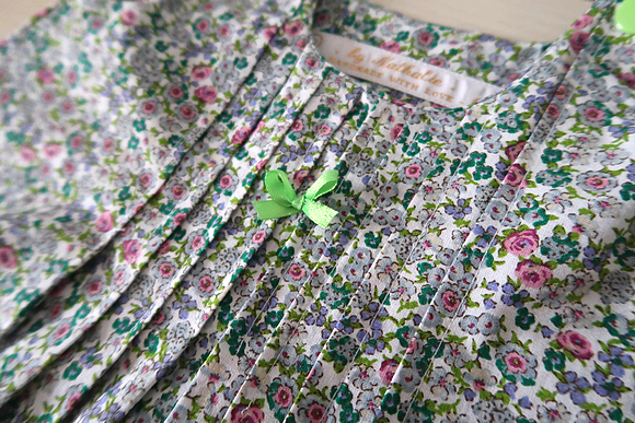 robe bébé fleurie
