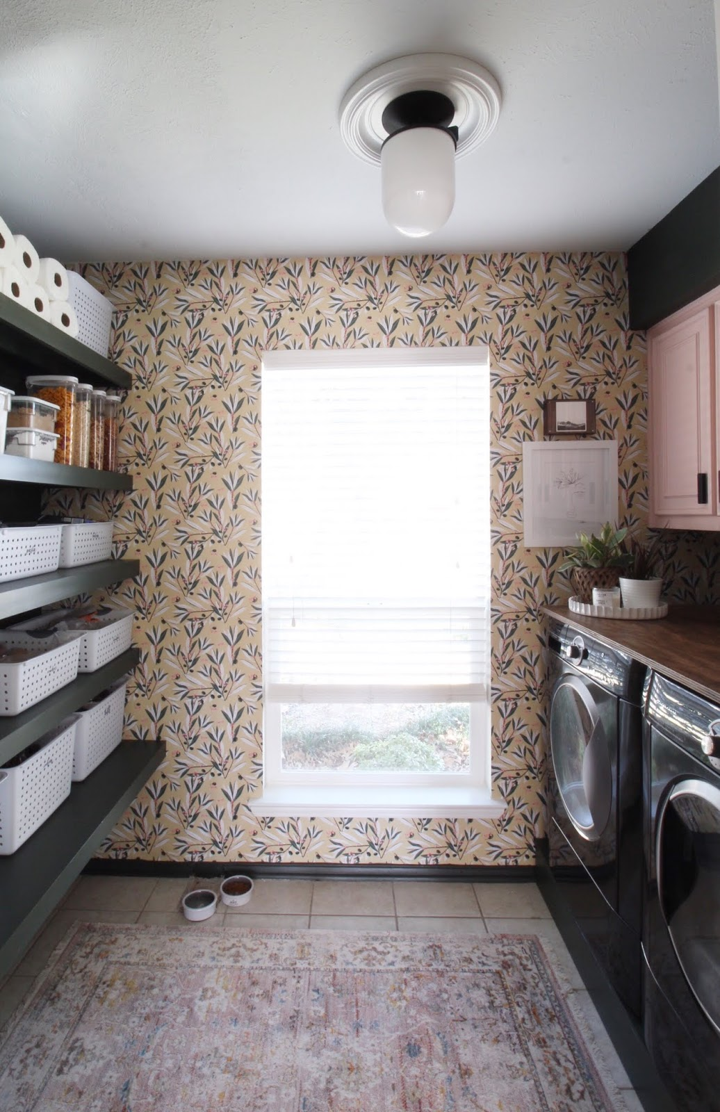 We've lived in our house a whole year!! Check out the tour and a round up of projects I've done. It's been great!   House Homemade Milton and King Olive Dapple wallpaper