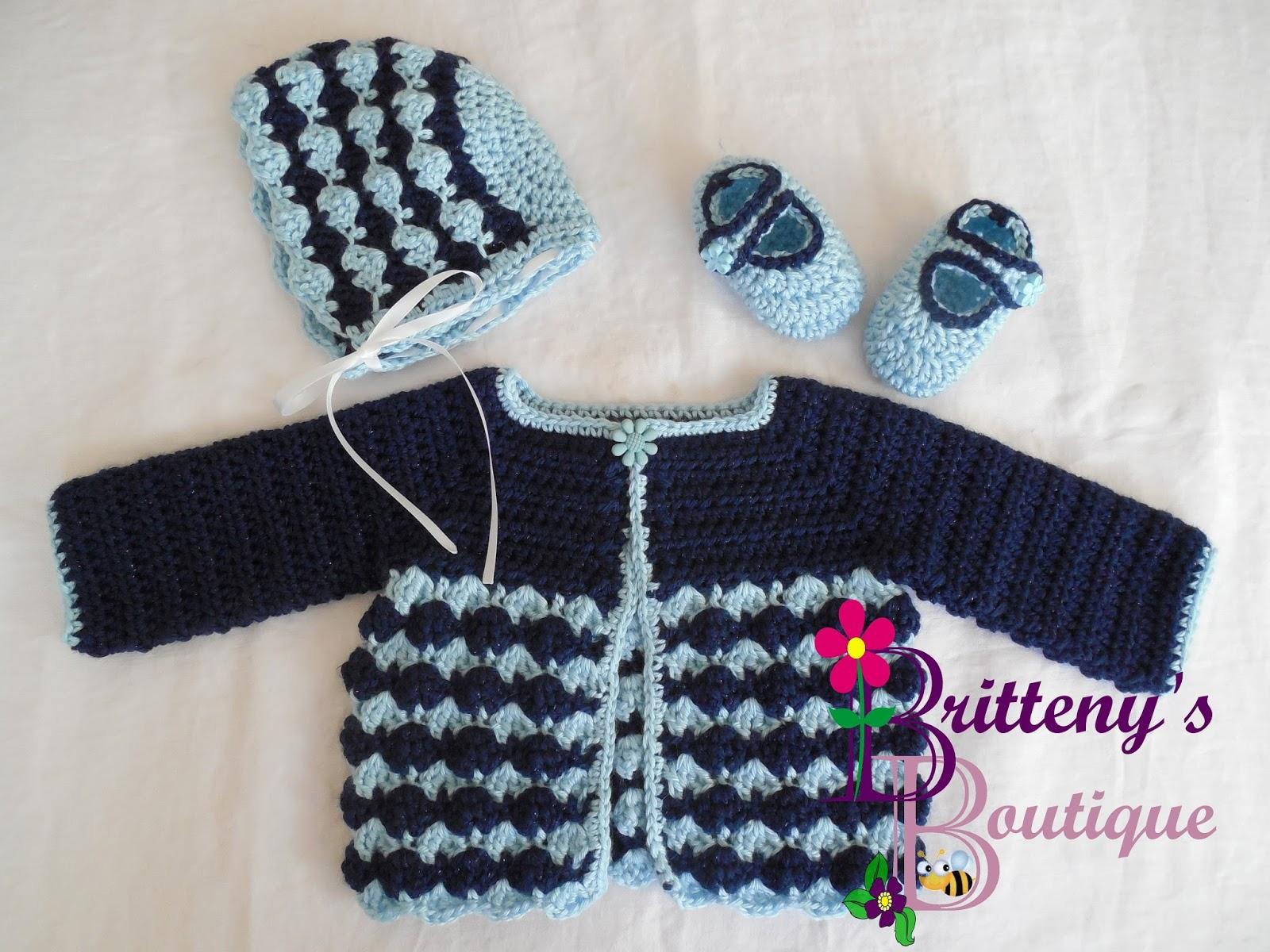 Britteny Off The Hook Berry Cute Sweater Set Crochet Pattern
