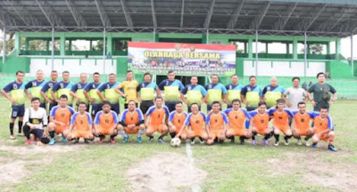 Kapolda Jambi Bersama Pangdam II Sriwijaya, Danrem 042 Gapu Laksanakan Olahraga Bersama Sinergitas TNI-Polri