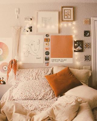 decoracion de cuarto naranja tumblr de verano