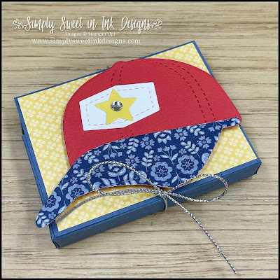 Cute handmade gum holder for your baseball fans, featuring the Hat Builder dies!