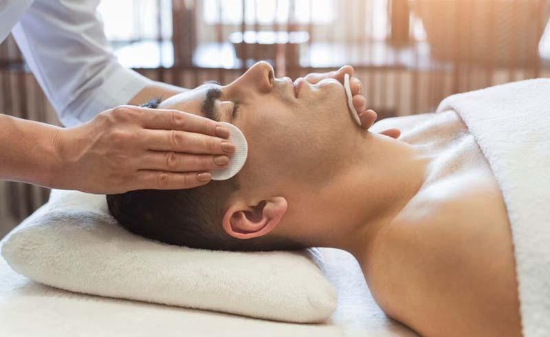 men's facial treatment, men's spa facial, how to get a facial men, facial tips for men, what to know about facials for men, what does a facial do, should a guy shave before a facial