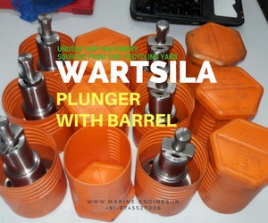 Wartsila Engine, Plunger with barrel, second hand, genuine, used, unused, OEM, spare parts, ship machinery, sale, India, Ship, buy now