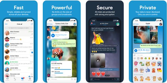 تطبيق المراسلة الأكثر أمانا : Telegram