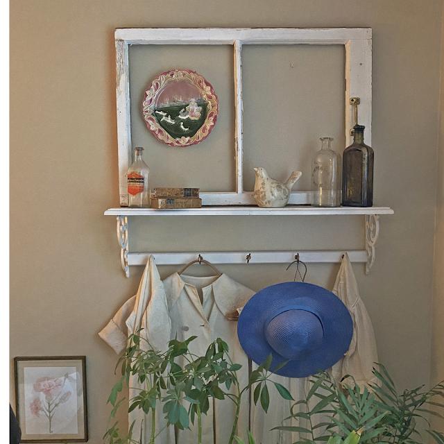 vintage window frame decor