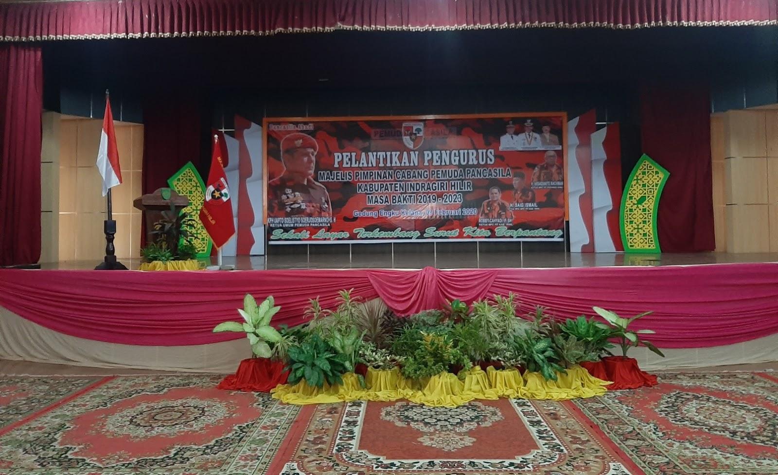 Besok, Majelis Pimpinan Cabang Pemuda Pancasila Kabupaten Inhil di Lantik