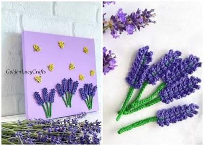 Cuadros de crochet con motivos en miniatura para decoración