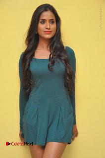 Telugu Actress Prasanthi Stills in Green Short Dress at Swachh Hyderabad Cricket Press Meet  0044.JPG