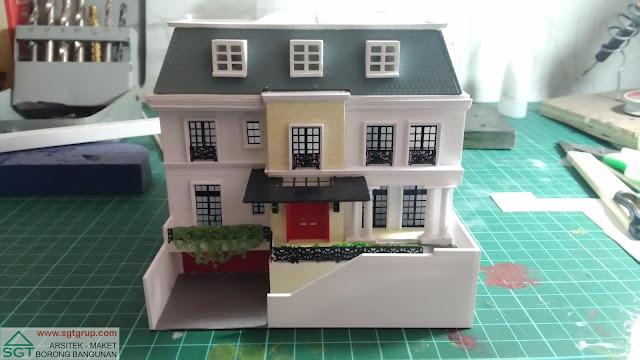 Jasa Pembuatan Maket Rumah Tipe Mediterania Model 1