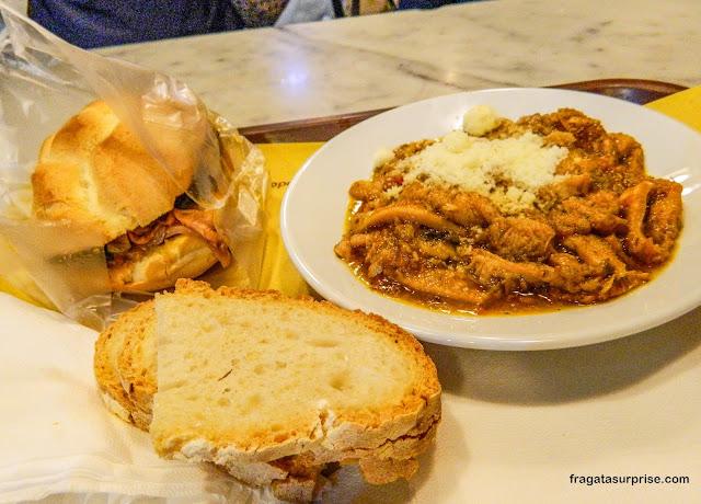 Pratos típicos de Florença: lampredotto e trippa alla fiorentina