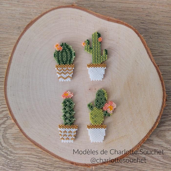 Cactus en perles Miyuki de Charlotte Souchet tissés par Hello c'est Marine