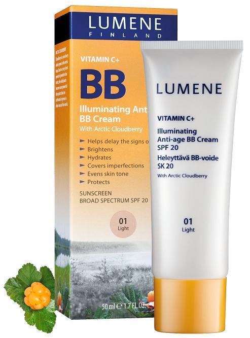 new lumene vitamin c illuminating anti age bb cream with spf20 nouveau cheap. Black Bedroom Furniture Sets. Home Design Ideas