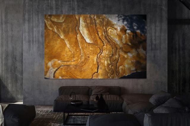 Oxydation, Grès de Fontainebleau 210 X 160 cm