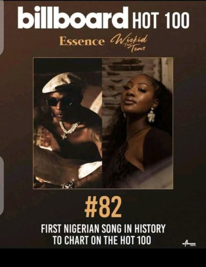 Essence By Wizkid Becomes The First Nigerian Song To Chart On Billboard Hot 100