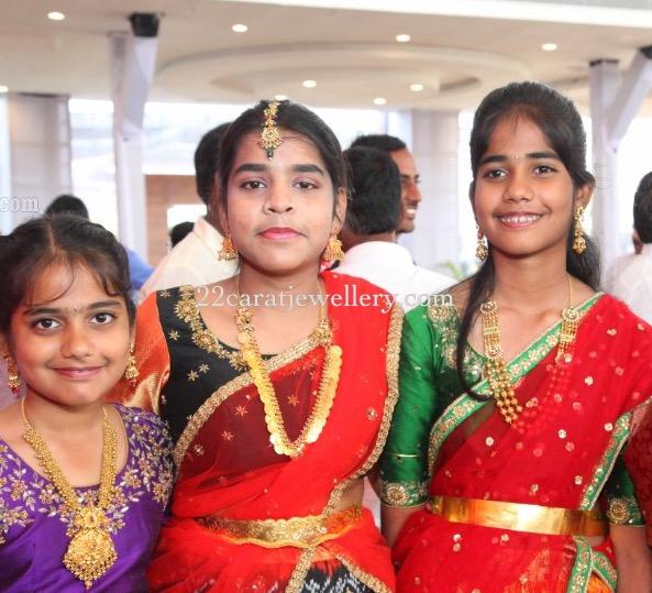 Small Girls in Traditonal Gold Jewellery