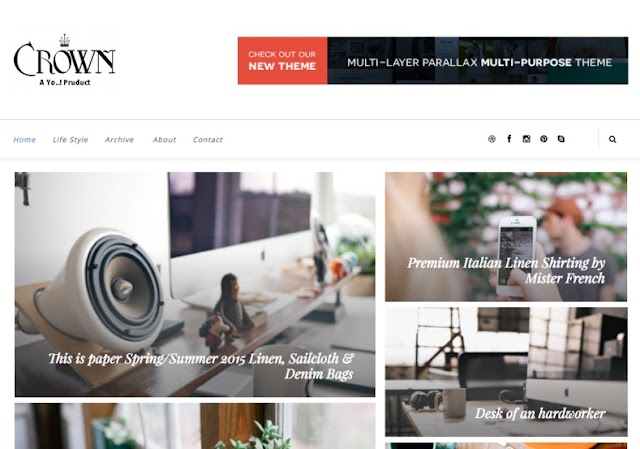 Crown Blogger Template Premium Version Free Download