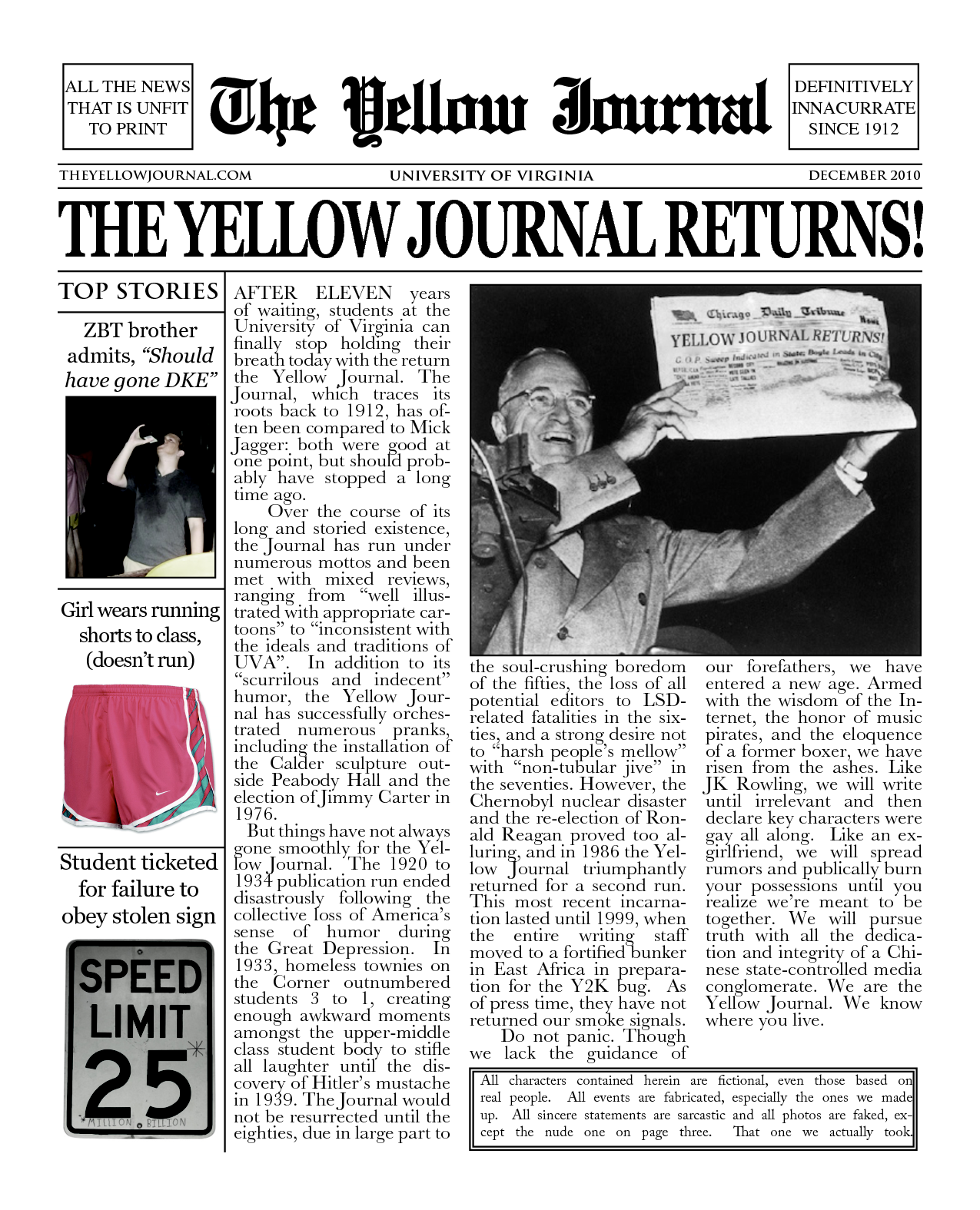 THE YELLOW JOURNAL RETURNS!!!