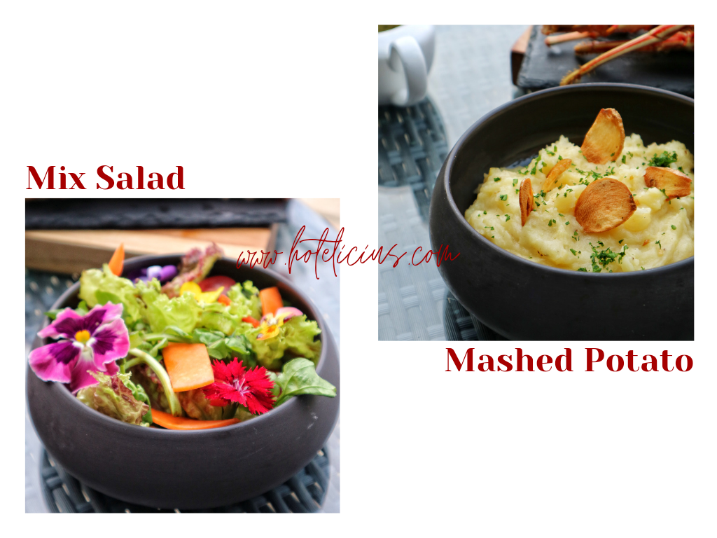 Mix Salad and Mashed Potato