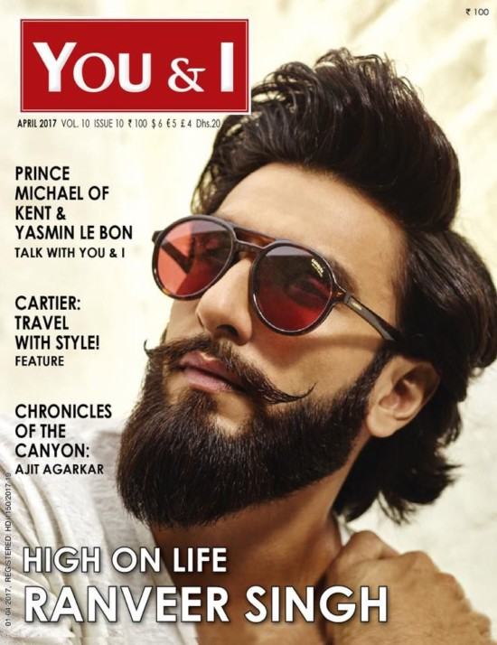 Ranveer Singh On The Cover Of You and I Magazine April 2017