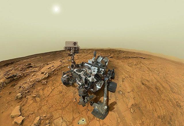 selfie da sonda Curiosity em Marte