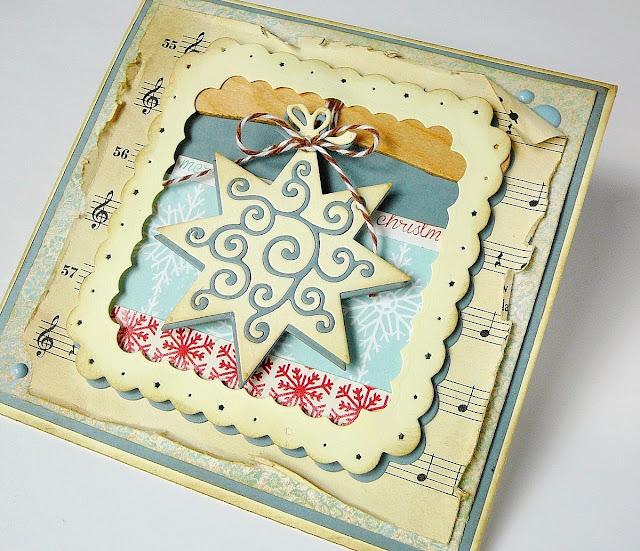 kartka świąteczna z patyczkiem
