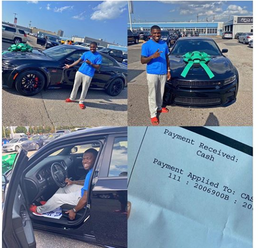 OMG: Nigerian's reacts as a Lady buys her husband expensive car to appreciate  him