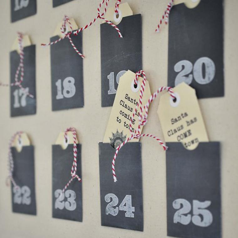 Hogar diez 10 calendarios de adviento diy - Calendario de adviento diy ...