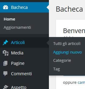 Come aggiungere un post su wordpress