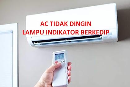 AC Tidak Dingin, Lampu Indikator Berkedip