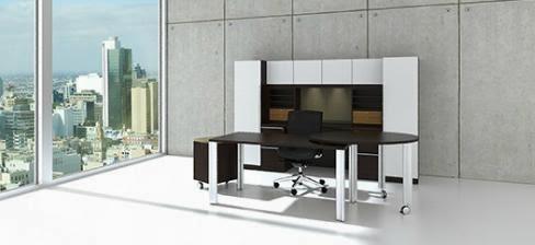 Cherryman Verde Desk with Metal Accents