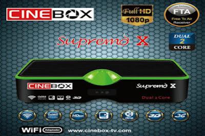 CINEBOX SUPREMO X HD NOVA ATUALIZAÇÃO - SKS 22W - 28/10/2016