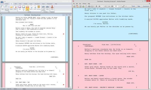 Final Draft 9 Screenshot