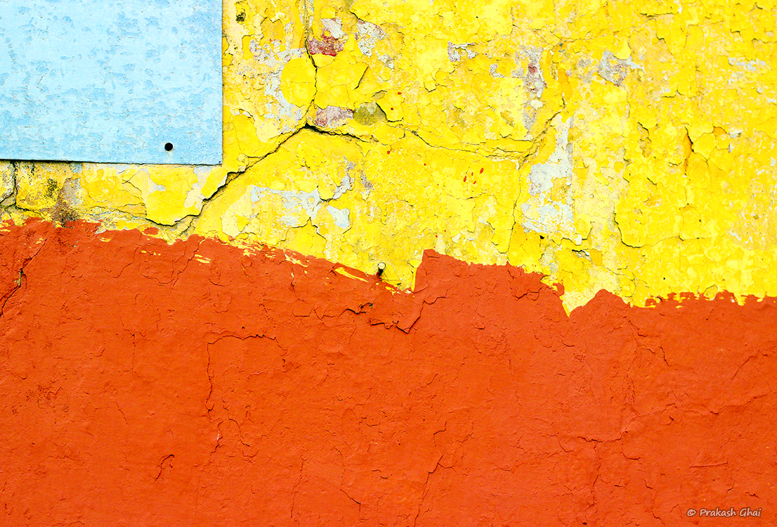A Minimalist Photo of Old textured unkempt Indian wall in walled city Jaipur, Rajasthan