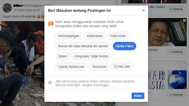 Cara Mudah Melaporkan Status di Facebook yang Tidak Pantas dan Mengganggu