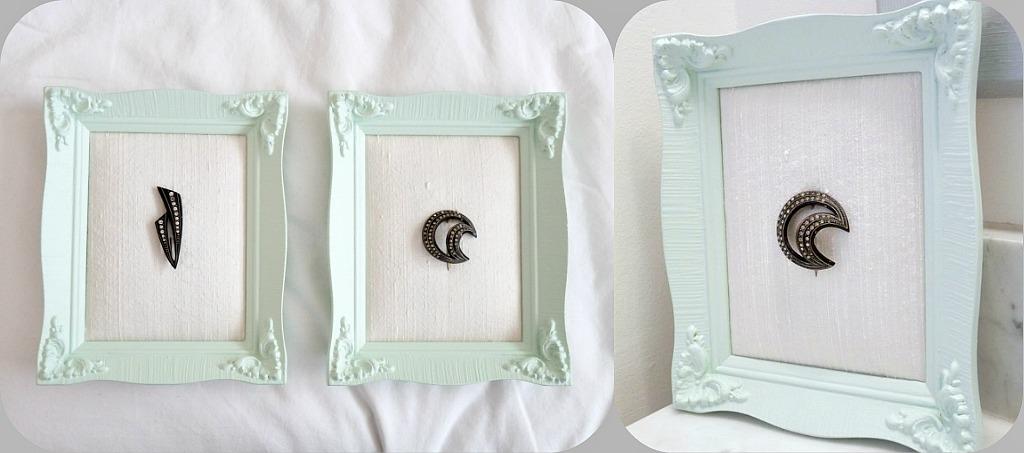 Framed bakelite brooch
